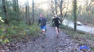 One of the rare moments we were encouraged to 'peg it', running alongside Trevor, and excellent runner - witness the huge grin on his face to see how much fun it was.