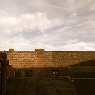 The view, of Stag Works, from the studio window.
