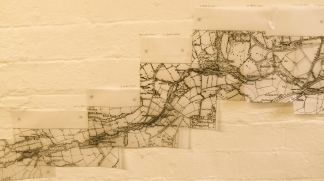 My giant victorian map of the Porter Brook, for the Sheffield Wheels project.